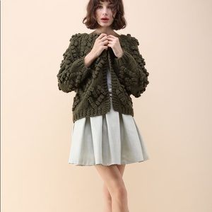 Chicwish Knit Your LOVE CARDIGAN IN ARMY GREEN